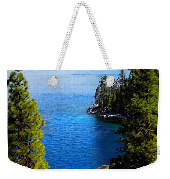 Lake Tahoe From The Rubicon Trail Weekender Tote Bag