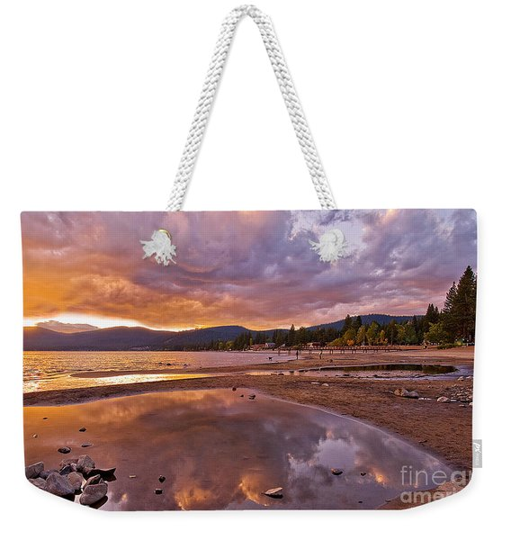Weekender Tote Bag featuring the photograph Lake Tahoe by Mae Wertz