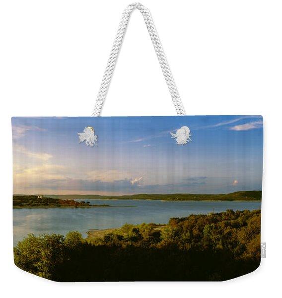 Lake Travis At Dusk, Austin, Texas, Usa Weekender Tote Bag