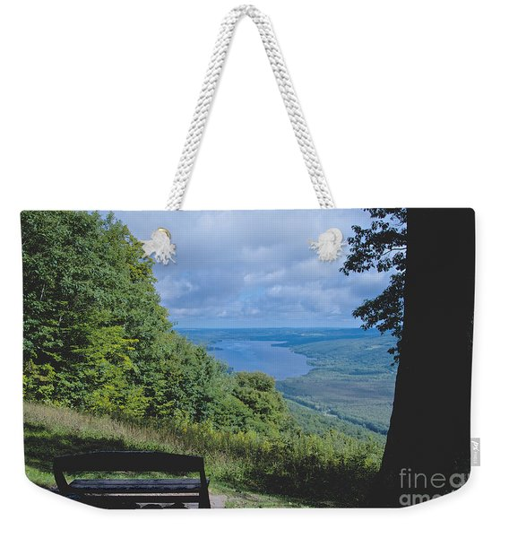 Lake Vista Weekender Tote Bag