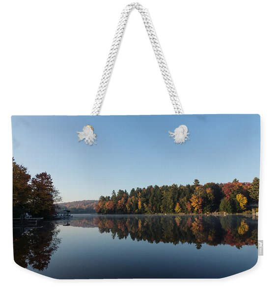 Lakeside Cottage Living - Peaceful Morning Mirror Weekender Tote Bag