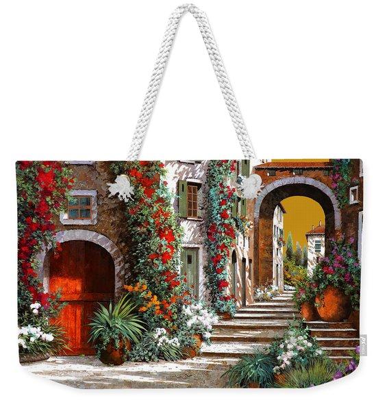 L'altra Porta Rossa Al Tramonto Weekender Tote Bag