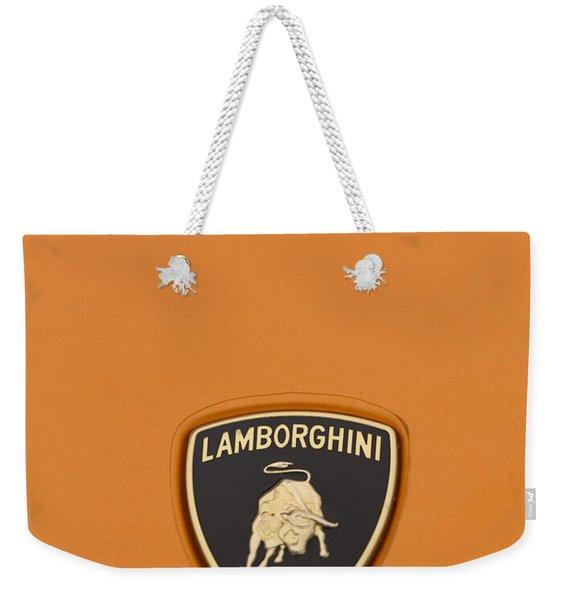 Lambo Hood Ornament Orange Weekender Tote Bag