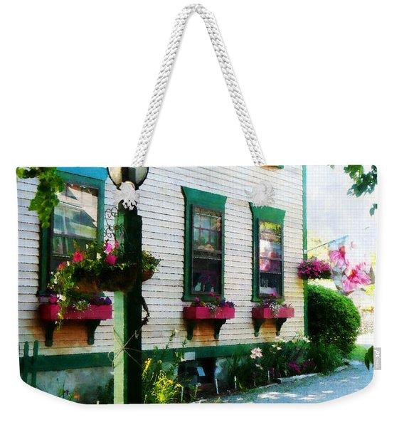 Lamp And Window Boxes Weekender Tote Bag