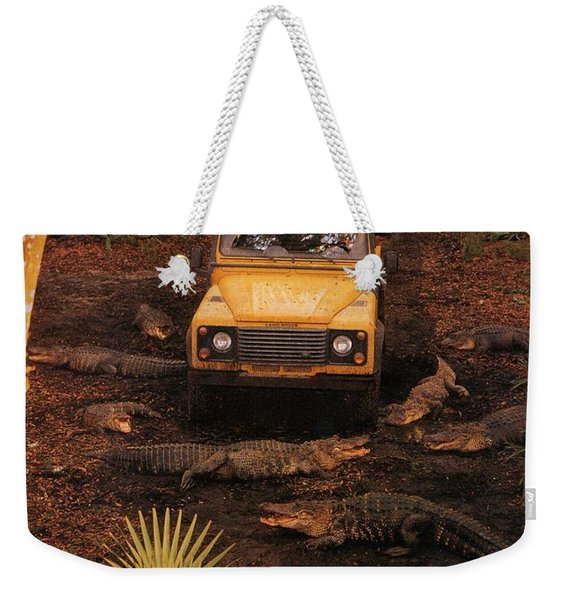 Land Rover Defender 90 Ad Weekender Tote Bag