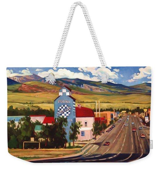 Weekender Tote Bag featuring the painting Lander 2000 by Art West