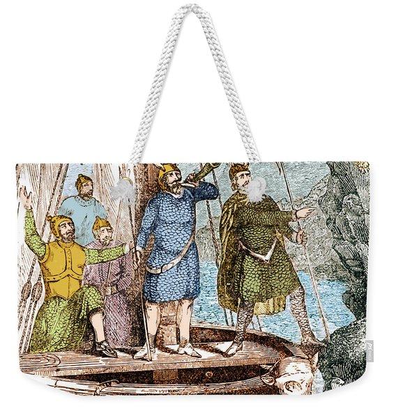 Landing Of The Vikings In The Americas Weekender Tote Bag