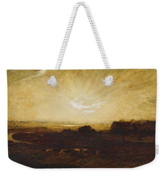 Landscape At Sunset Weekender Tote Bag