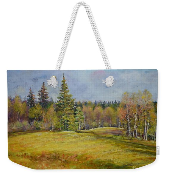 Landscape From Pyhajarvi Weekender Tote Bag
