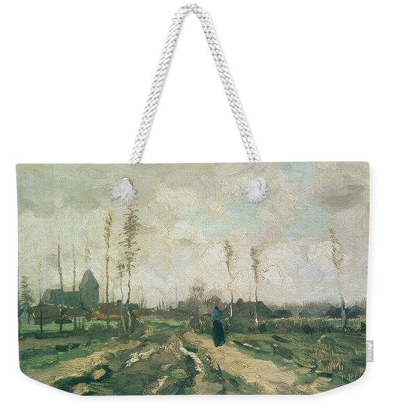 Landscape With A Church And Houses Weekender Tote Bag
