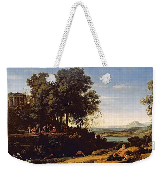 Landscape With Apollo And The Muses, 1652 Oil On Canvas Weekender Tote Bag