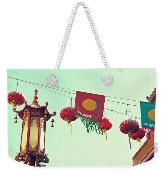 Lanterns Over Chinatown Weekender Tote Bag