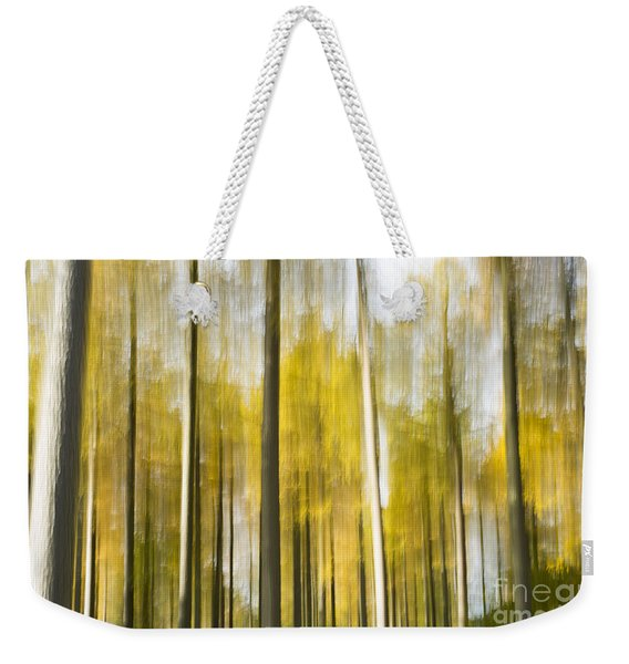 Larch Grove Blurred Weekender Tote Bag