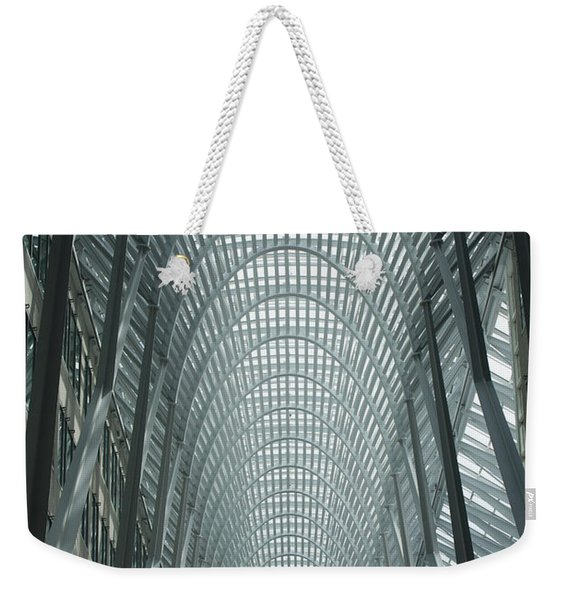Large Arched Glass And Metal Domed Weekender Tote Bag