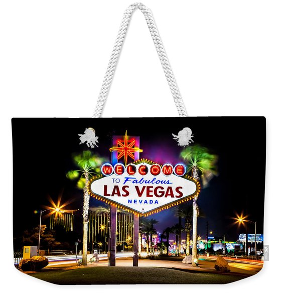 Las Vegas Sign Weekender Tote Bag