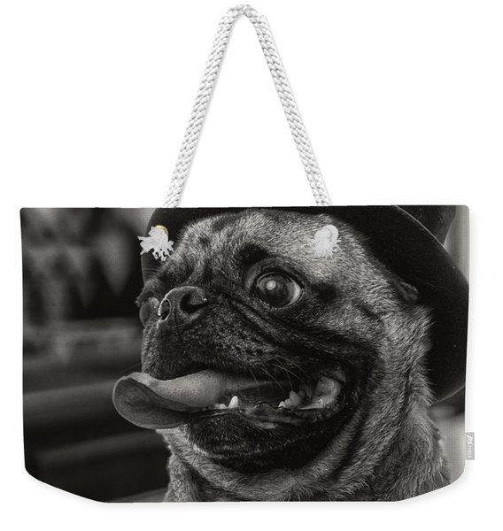 Last Call Pug Greeting Card Weekender Tote Bag
