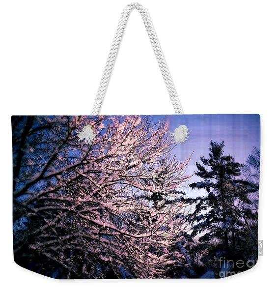 Last Peek Of Winter Sun Weekender Tote Bag
