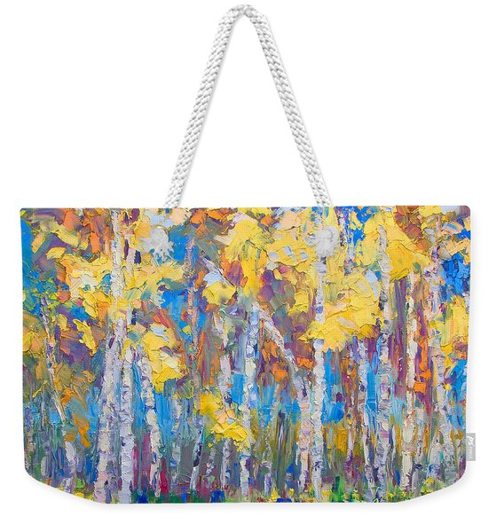 Weekender Tote Bag featuring the painting Last Stand by Talya Johnson