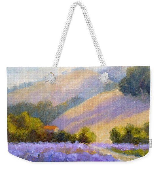 Late June Hills And Lavender Weekender Tote Bag