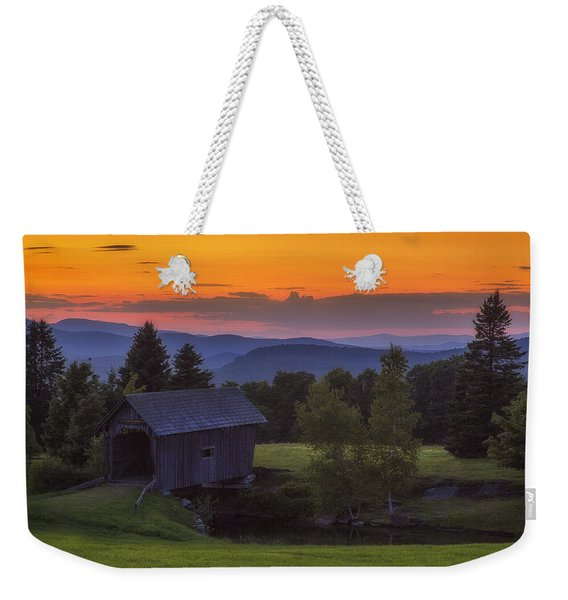 Late Summer Sunset Weekender Tote Bag