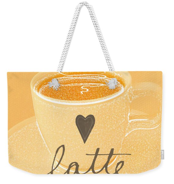 Latte Love In Orange And White Weekender Tote Bag