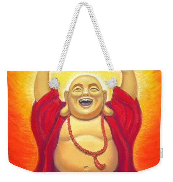 Laughing Rainbow Buddha Weekender Tote Bag