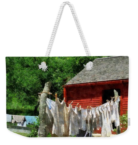 Laundry Hanging On Line Weekender Tote Bag