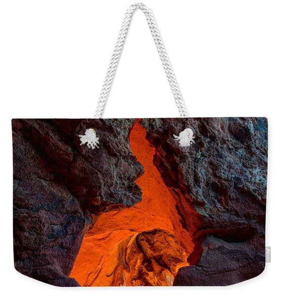 Lava Glow Weekender Tote Bag