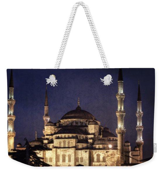 Lavender Brocade Weekender Tote Bag