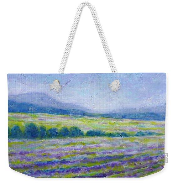 Lavender Field In Provence Weekender Tote Bag