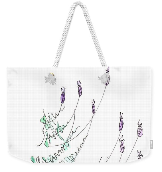Lavender Grows From Stone Wall  Weekender Tote Bag
