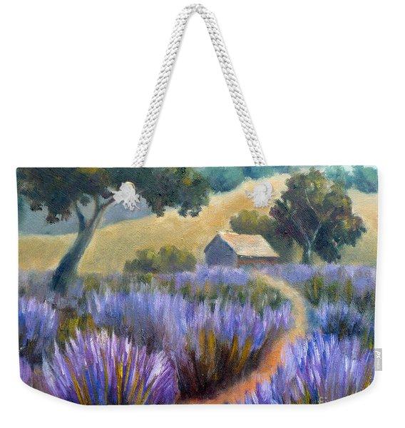 Lavender Path Weekender Tote Bag