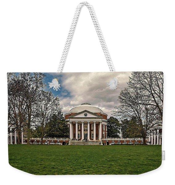 Lawn And Rotunda At University Of Virginia Weekender Tote Bag
