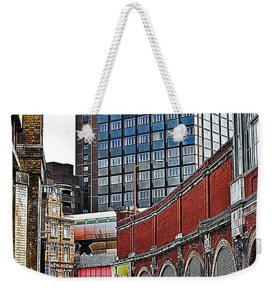 Weekender Tote Bag featuring the photograph Layers Of London by Jeremy Hayden