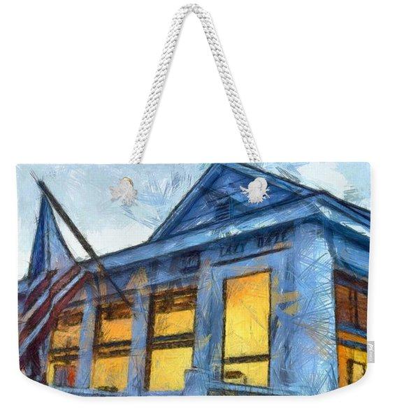 Lazy Daze Beach Cottage Pencil Sketch Weekender Tote Bag