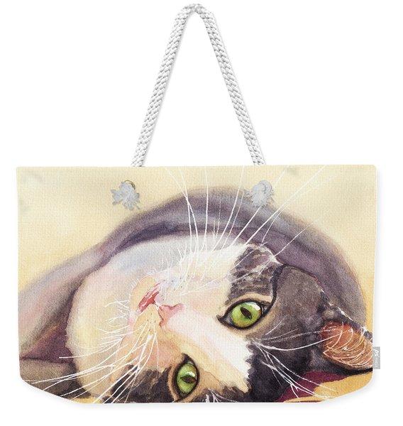 Lazy Kitty Weekender Tote Bag