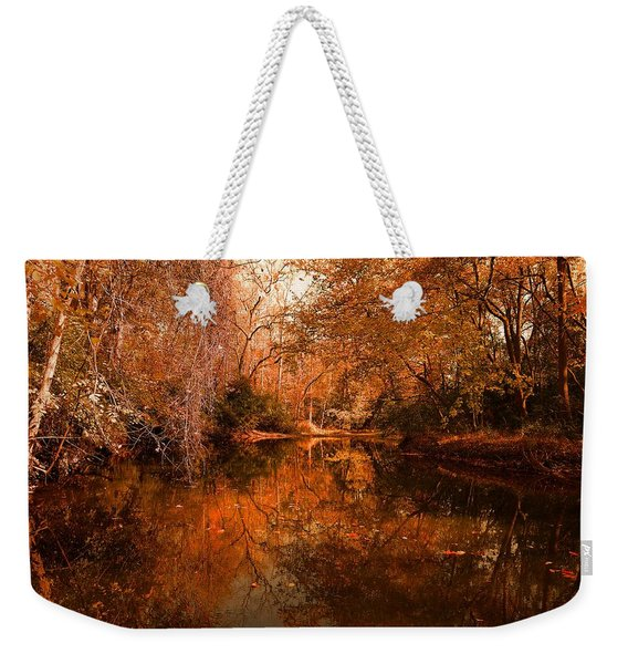 Lazy River Autumn Weekender Tote Bag