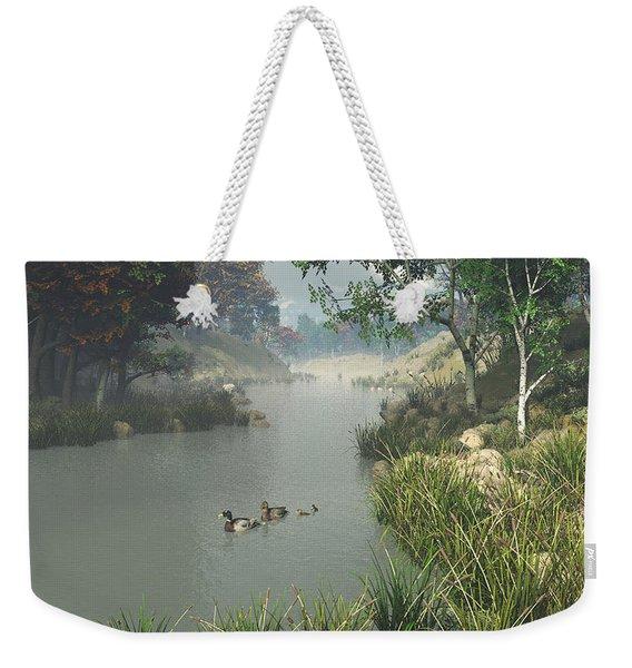 Lazy River Weekender Tote Bag
