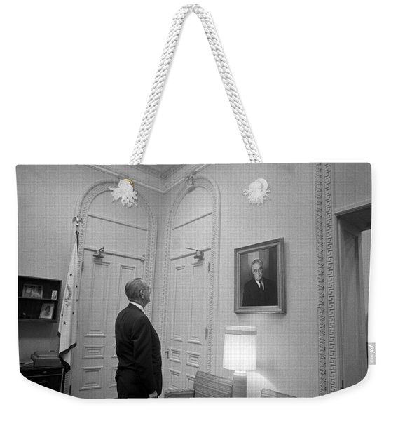 Lbj Looking At Fdr Weekender Tote Bag