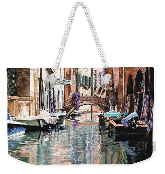 Le Barche E I Pali Colorati Weekender Tote Bag