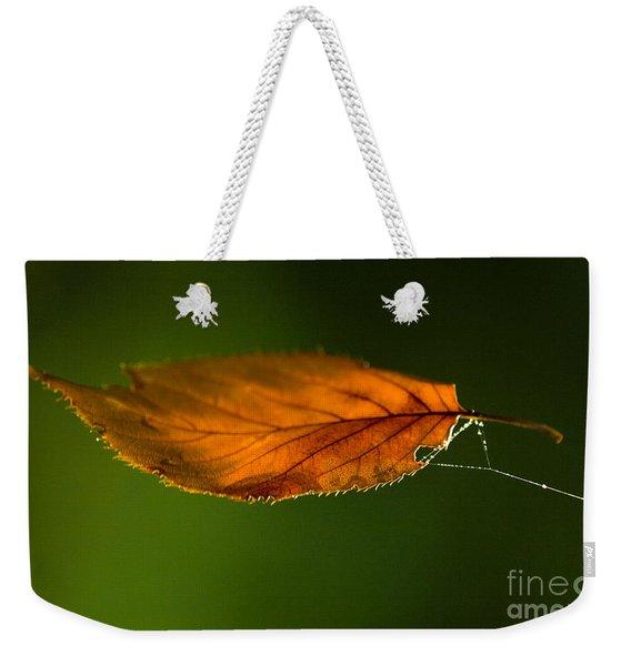 Leaf On Spiderwebstring Weekender Tote Bag