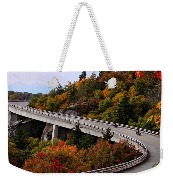 Lean In For A Ride Weekender Tote Bag