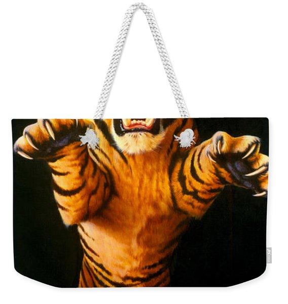 Leaping Tiger Weekender Tote Bag