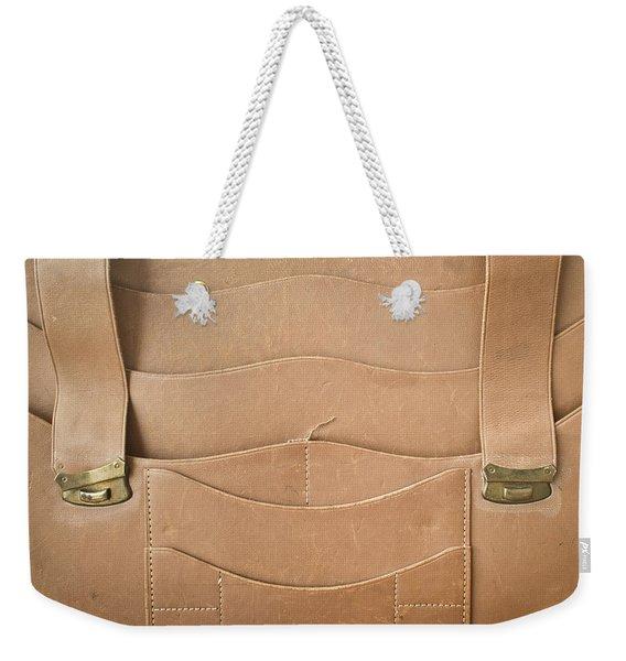 Leather Satchel Weekender Tote Bag