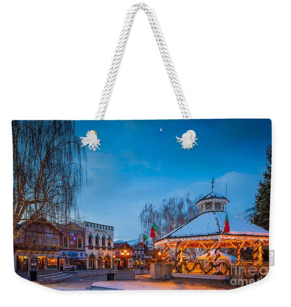 Leavenworth Christmas Moon Weekender Tote Bag