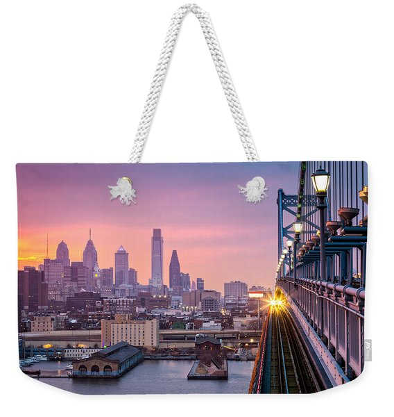 Weekender Tote Bag featuring the photograph Leaving Philadelphia by Mihai Andritoiu