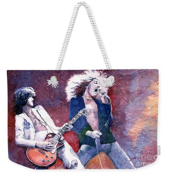 Led Zeppelin Jimmi Page And Robert Plant  Weekender Tote Bag