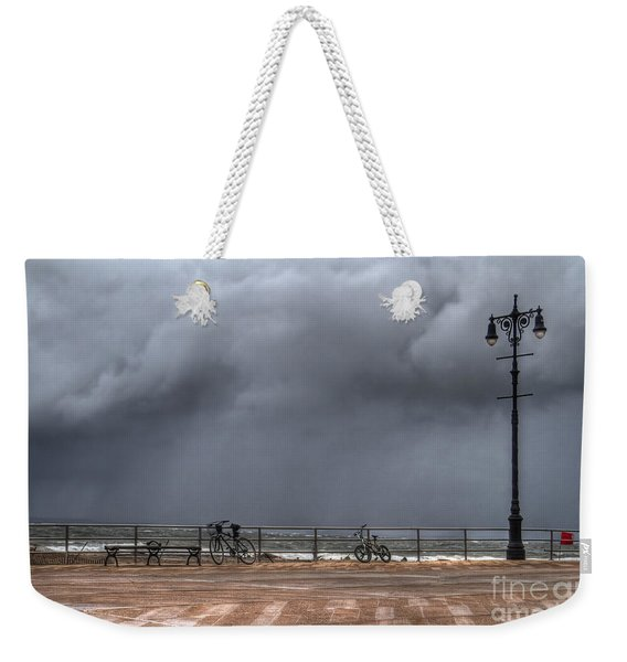 Left In The Power Of The Storm Weekender Tote Bag