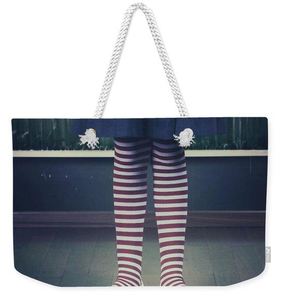 Legs Of A Schoolgirl Weekender Tote Bag