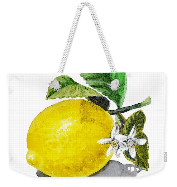 Lemon Flowers And Lemon Weekender Tote Bag